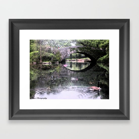 Central Park Bridge Framed Art Print
