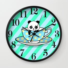 A Tired Panda Wall Clock