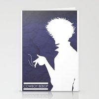 cowboy bebop Stationery Cards featuring Cowboy Bebop ver 2 by AWAL