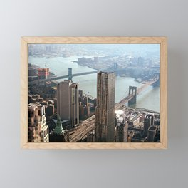 Vintage New City Framed Mini Art Print