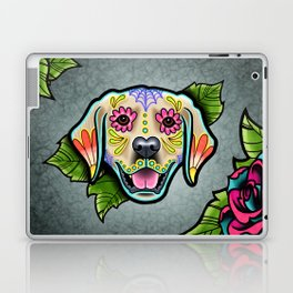 Golden Retriever - Day of the Dead Sugar Skull Dog Laptop & iPad Skin