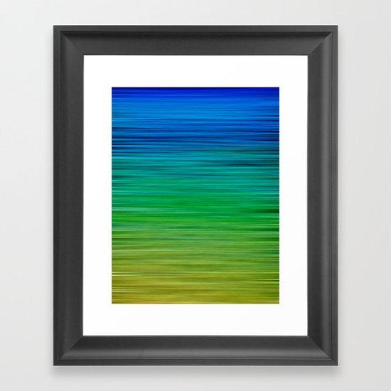 SEA BLUES Framed Art Print