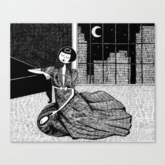 it is only a paper moon Canvas Print