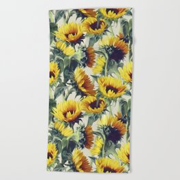 Sunflowers Forever Beach Towel