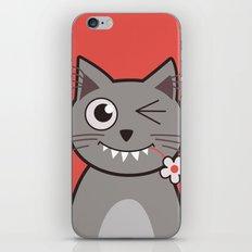 Winking Cartoon Kitty Cat iPhone & iPod Skin