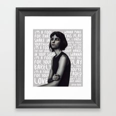 Songs XIX. Framed Art Print
