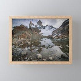 Fitz Roy Glacier Lake Framed Mini Art Print