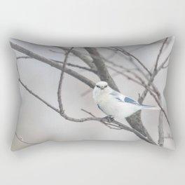 Azure tit, white prince Rectangular Pillow