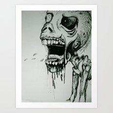 Scream Zombie! Art Print