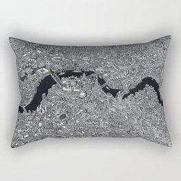 London map black and white Rectangular Pillow