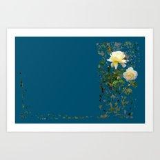 Roses on a string Art Print