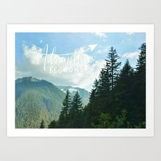 Adventure Beckons Art Print