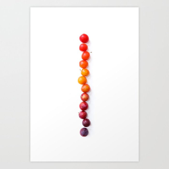 Plum Gradient Art Print