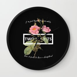 Harry Styles Two Ghosts graphic design Wall Clock