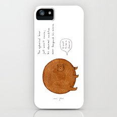 the spherical bear iPhone (5, 5s) Slim Case
