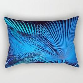 Blue Palms Rectangular Pillow