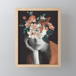 WOMAN WITH FLOWERS 7 Framed Mini Art Print