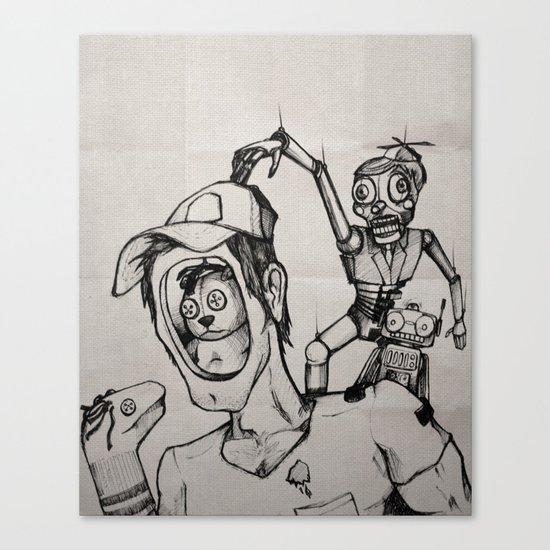 Imagination (sketch) Canvas Print