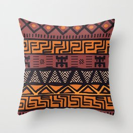 Tribal ethnic geometric pattern 021 Throw Pillow