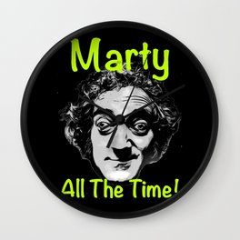 Marty All The Time Wall Clock