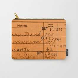 Library Card 23322 Orange Carry-All Pouch