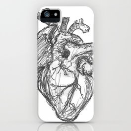 Anatomical Heart Ink Sketch iPhone Case