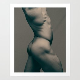 """Lateral Nude"" (0001) Art Print"