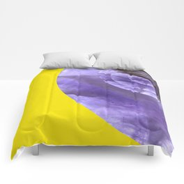 Yellow Mystical Powers of Amethyst #society6 Comforters