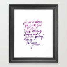Love quotes Framed Art Print