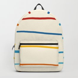 Bright Classic Abstract Minimal 70s Rainbow Retro Summer Style Stripes #1 Backpack