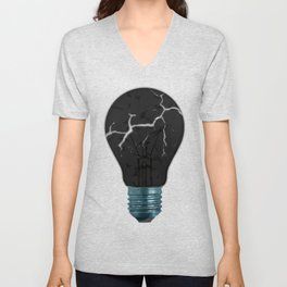 Broken Light Bulb Unisex V-Neck