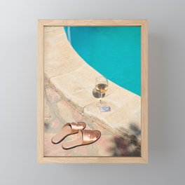 slip on season Framed Mini Art Print