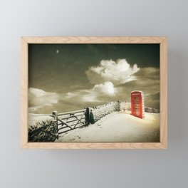 Winter in the Cotswolds, England Framed Mini Art Print