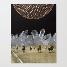 Beneath a Thousand Moons - (Triptych) by Zabu Stewart Canvas Print