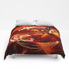 Tänzerin mit Drachen Comforters