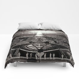 Vatican Rocking View Black and White Comforters