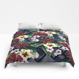 Geometric and Flowers Comforters