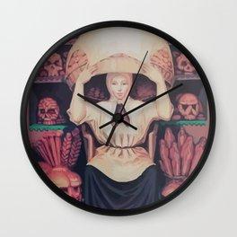 skull of a woman Wall Clock