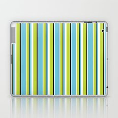 Fun Stripes blue green Laptop & iPad Skin