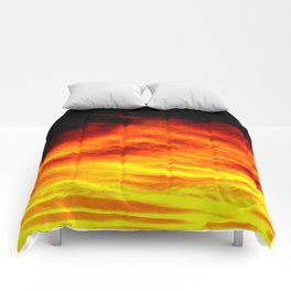 Black Yellow Red Sunset Comforters