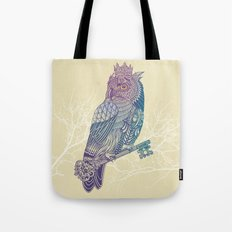 Owl King Color Tote Bag