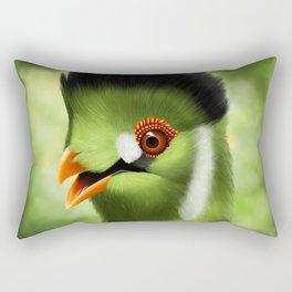 Whitecheeked Turaco Rectangular Pillow