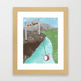 Yo-Yo Jumping! Framed Art Print