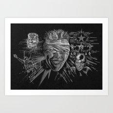 Blackstar by Cap Backard Art Print
