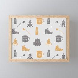 Camping (Pollen) Framed Mini Art Print