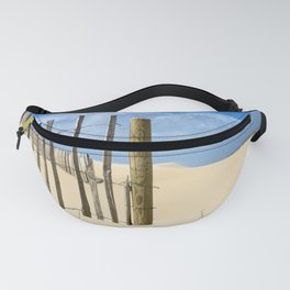 Fence in the sand Fanny Pack