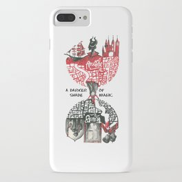 Red & Black London from A Darker Shade Of Magic iPhone Case