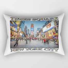 Times Square Sparkle (with typography) Rectangular Pillow