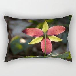 Red Trillium Life Rectangular Pillow