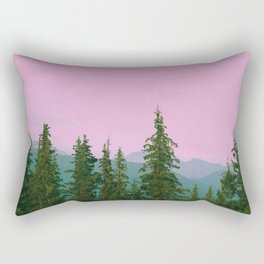 cotton candy mountains Rectangular Pillow